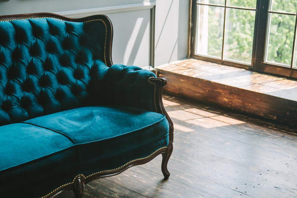 Retro Velvet Sofa.