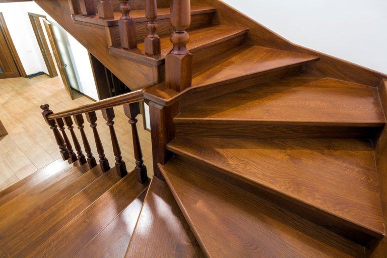 polish wooden staircase