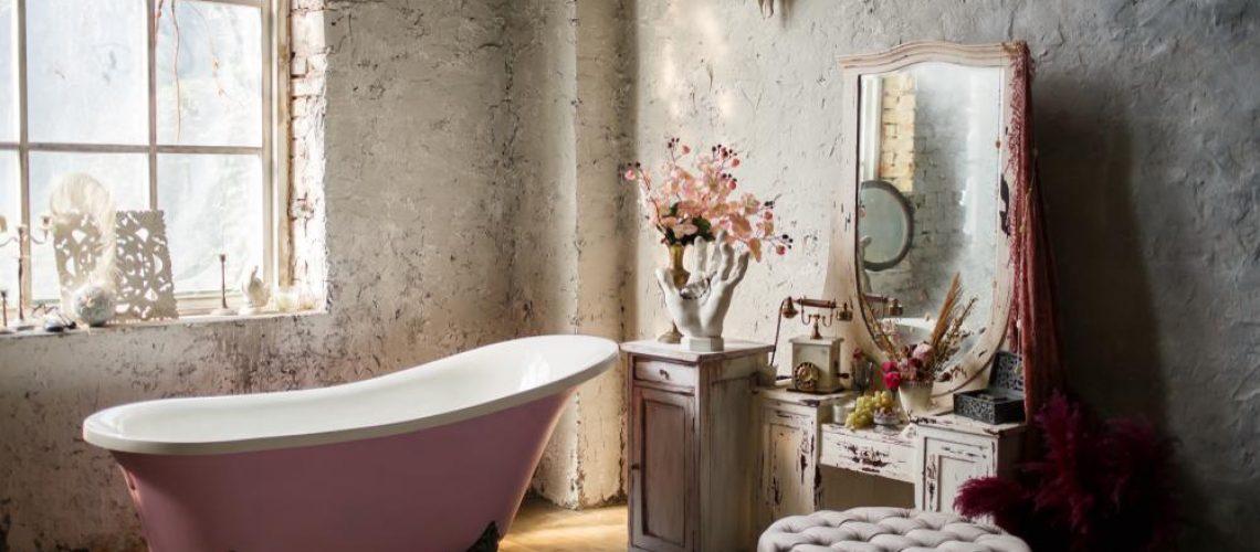Vintage,Style,Bathroom